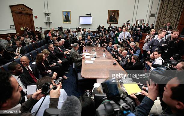S Secretary of Transportation Ray LaHood awaits the start of a House Oversight and Government Reform Committee hearing on Capitol Hill February 24...