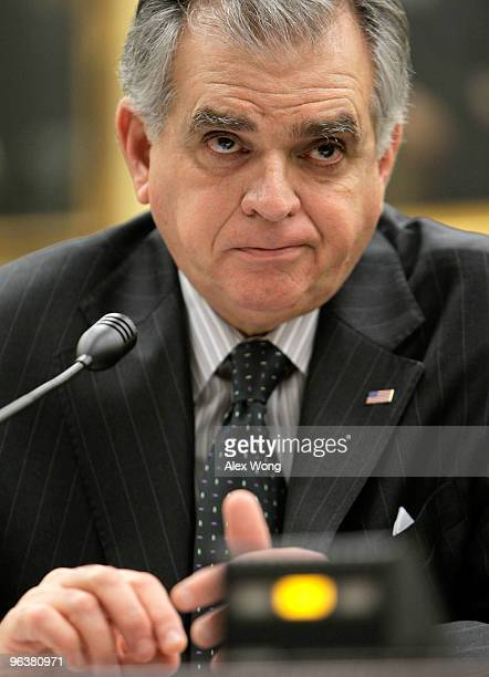 S Secretary of Transportation Ray LaHood testifies during a hearing on his department's budget request for FY2011 before the Transportation Housing...