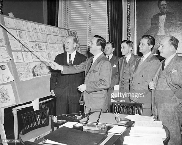 Secretary of Treasury Henry Morgenthau Jr Walt Disney Assistant Secretary of Treasury John L Sullivan Assistant to the Secretary George Buffington...