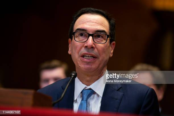 Secretary of Treasury Steve Mnuchin testifies at a Financial Services and General Government Subcommittee hearing on the proposed budget estimates...
