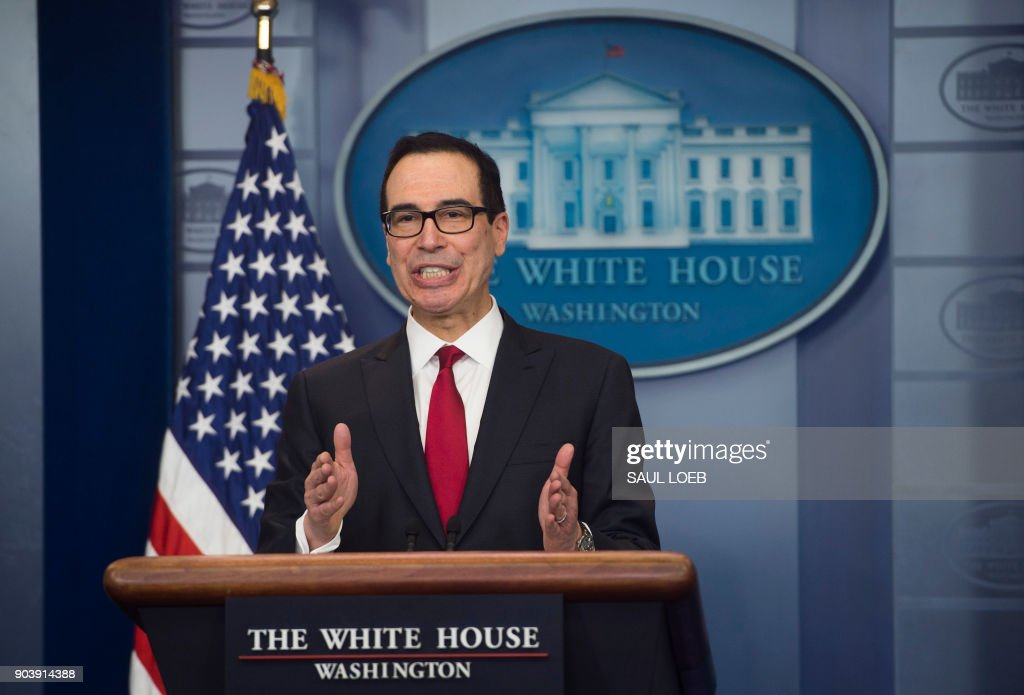 US Secretary of Treasury Steven Mnuchin speaks during the daily press briefing at the White House in Washington, DC, January 11, 2018. /
