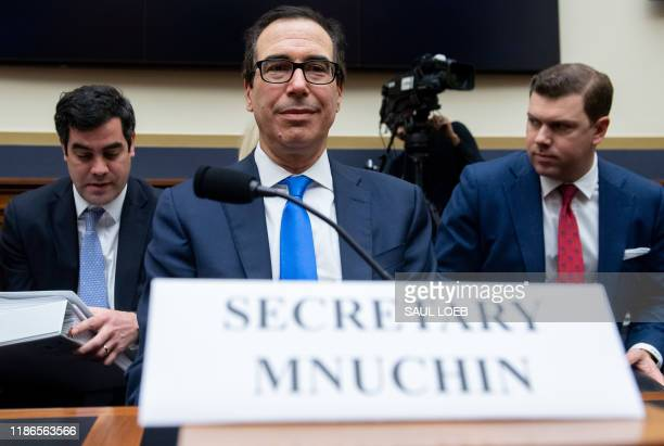 Secretary of Treasury Steven Mnuchin testifies during a House Financial Services Committee hearing on Capitol Hill in Washington, DC, December 5,...