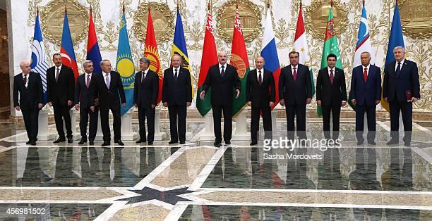 Secretary Sergei Lebedev Azeri President Ilham Aliyev Armenian President Serge Sargsyan Kazakh President Nursultan Nazarbayev Kyrgyz President...
