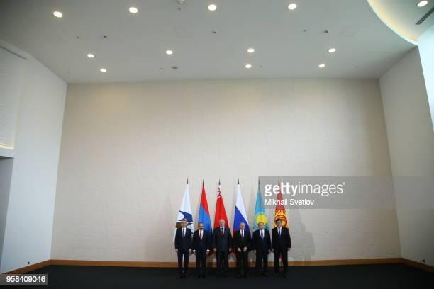 LR EAEU Secretary Tigran Sarkisyan Armemian Prime Minister Nikol Pashinyan Belarussian President Alexander Lukashenko Russian President Vladimir...