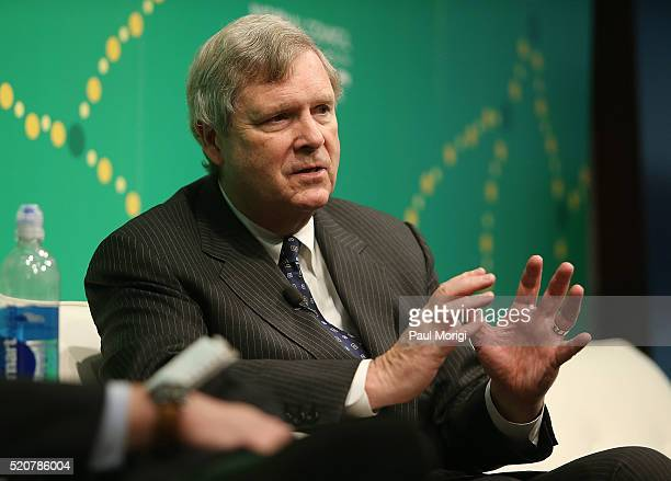 Secretary Tom Vilsack US Department of Agriculture speaks during The Atlantic's Summit on Mental Health Addiction at 1777 F Street on April 12 2016...