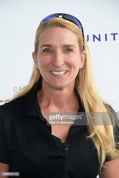 Secretary Treasurer/SAGAFTRA LA Local President Jane Austin arrives at SAGAFTRA Foundation 7th annual LA Golf Classic Fundraiser on June 13 2016 in...