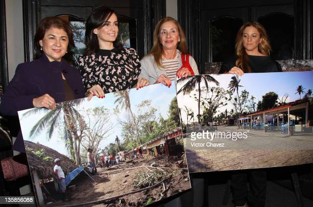 Secretary turism Veracruz Leticia Perlasca actress Ana de la Reguera Isabelle Turrent and photographer Adele Buzali attend 'Antigua Veracruz Lugar De...