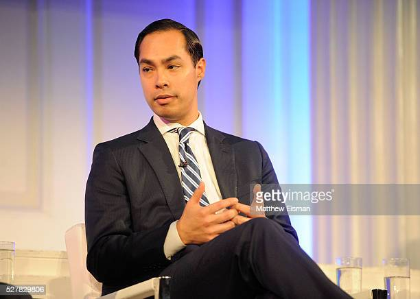 Secretary US Department of Housing and Urban Development Julian Castro speaks onstage at the 2016 Common Sense Media Awards on May 3 2016 in New York...
