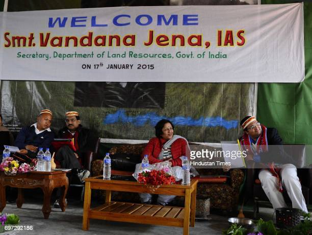 Secretary Vandana Jena visits her first posting as SDM in Ukhrul district on January 16 2015 in Manipur India