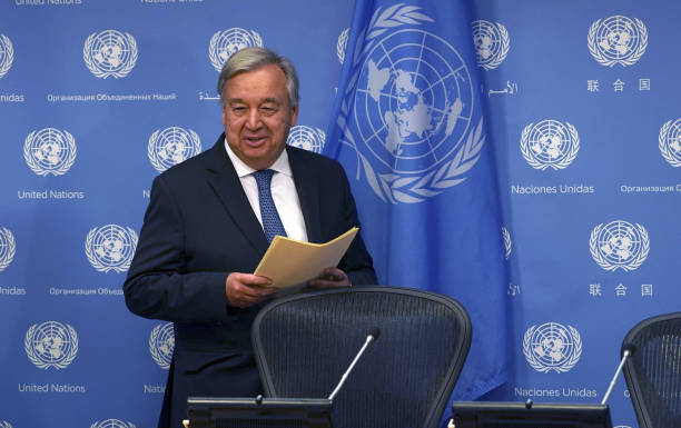 NY: U.N. Secretary General Antonio Guterres Holds A Press Conference Ahead Of The General Assembly