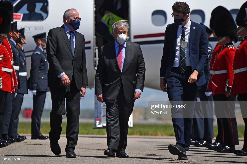 Foreign Leaders Arrive For G7 Summit : News Photo