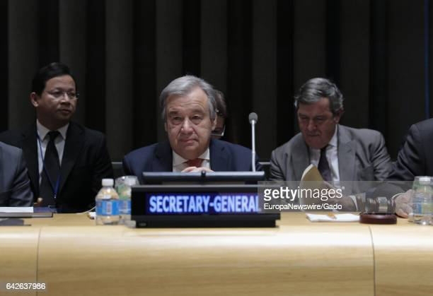 SecretaryGeneral Antonio Guterres at meeting during which Thailand handed over the Chairmanship of the Group of 77 and China for 2017 to Ecuador at a...
