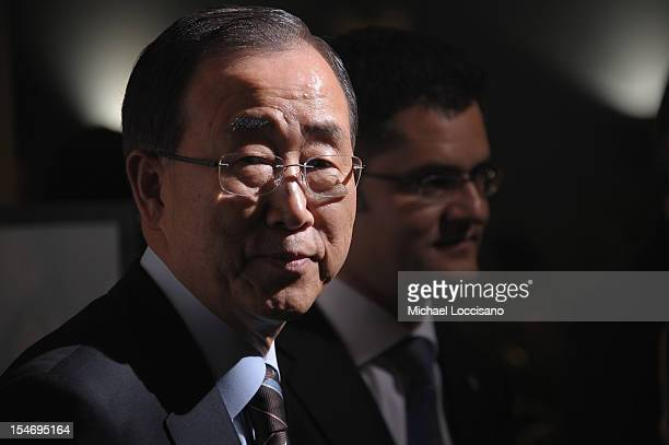 Secretary-General Ban Ki-moon attends the United Nations Day Concert at United Nations on October 24, 2012 in New York City.