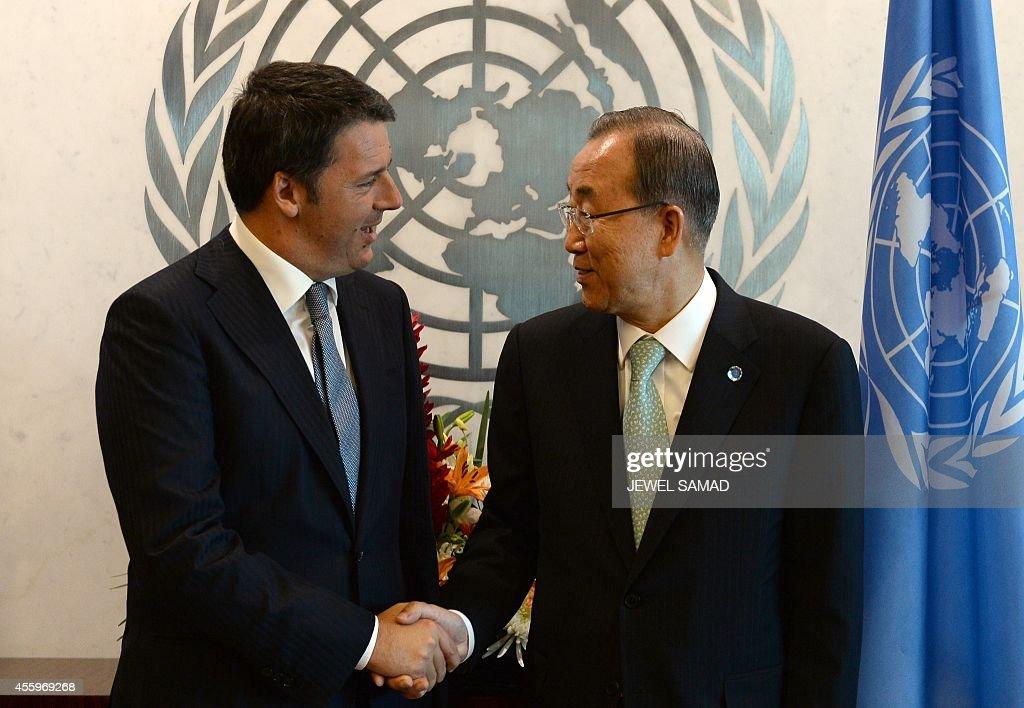 UN-ITALY-UNSG-RENZI : News Photo