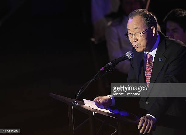 Secretary-General Ban Ki-moon introduces the 2014 United Nations Day Concert at United Nations on October 24, 2014 in New York City.