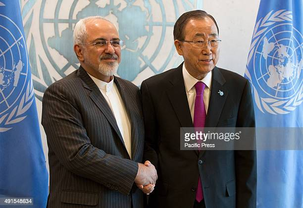 SecretaryGeneral Ban Kimoon meets with Mohammad Javad Zarif Minister for Foreign Affairs of the Islamic Republic of Iran at the United Nations...