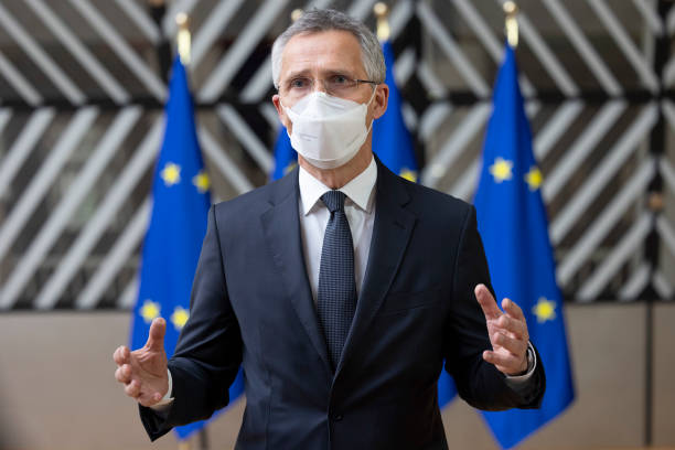 BEL: NATO Secretary-General Stoltenberg Arrives At Foreign Affairs Council FAC Defence