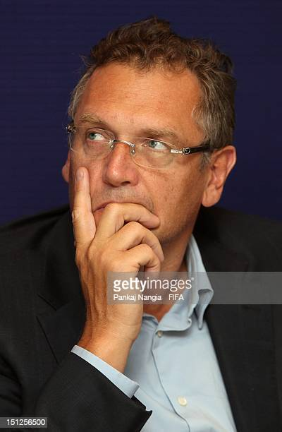 SecretaryGeneral Jerome Valcke looks on during the FIFA seminar for SecretaryGeneral and Technical Directors on September 5 2012 in Delhi India
