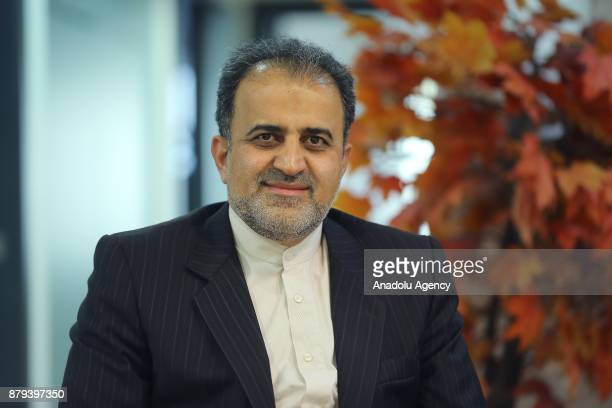 SecretaryGeneral of D8 Dr Seyed AliMohammad Mousavi poses during an interview with Turkey's semiofficial news agency Anadolu Agency in Istanbul...