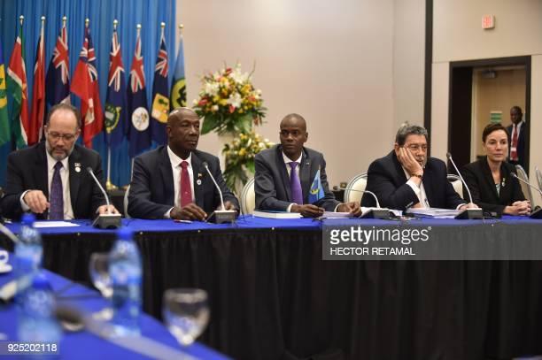SecretaryGeneral of the Caribbean Community Irwin LaRocque Prime Minister of Trinidad and Tobago Keith Christopher Rowley Haitian President Jovenel...