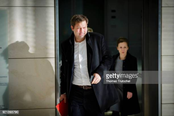 SecretaryGeneral of the Social Democratic Party Lars Klingbeil arrives for a faction meeting at Bundestag on February 20 2018 in Berlin Germany