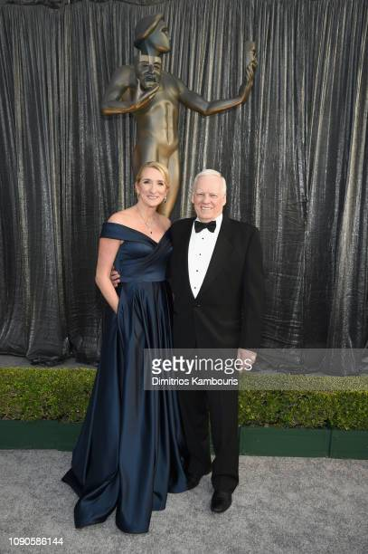 SecretaryTreasurer Jane Austin and SAGAFTRA Senior Advisor John McGuire attend the 25th Annual Screen Actors Guild Awards at The Shrine Auditorium on...