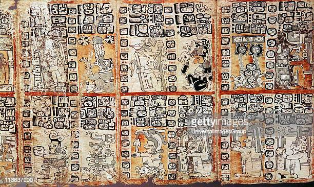 Section from the Mayan Troano Codex Maya peoples of Central and South America