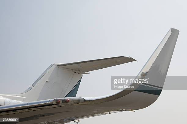 section of a private airplane - airplane tail stock pictures, royalty-free photos & images