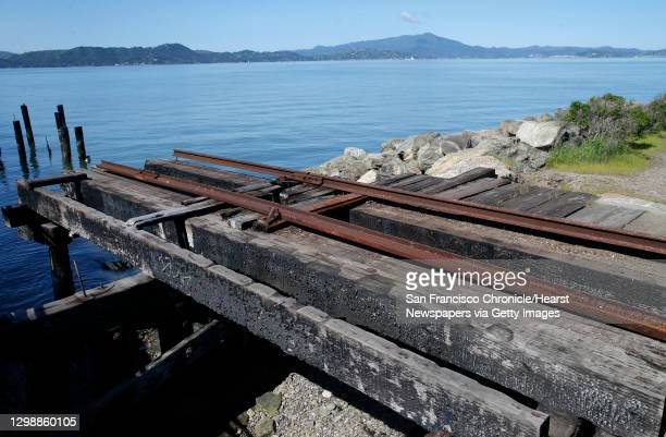 Section of an historic railway terminal remains at Ferry Point in the Miller/Knox Regional Shoreline in Richmond, Calif. On Saturday, March 30, 2019....