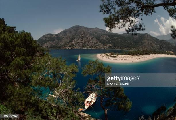 Section of coast from Fethiye Aegean Turkey