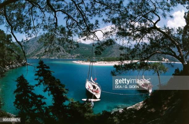 Section of coast near Fethiye Aegean Turkey