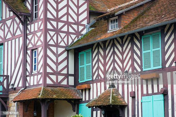 Section of half-timbered village house.