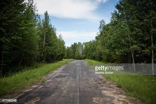 Section of land, previously closed due to an ongoing manhunt for two escaped convicts, is seen after officials decided to change strategies and...
