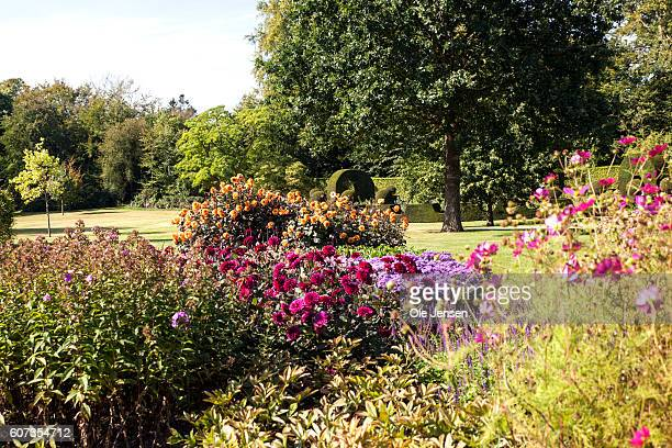 Section of Queen Margrethe's new perennial garden at Fredensborg Palace in Denmark on September 16 2016 The Queen received the garden as a birthday...
