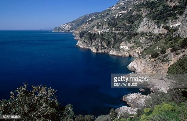 A section of the Amalfi coast Campania Italy