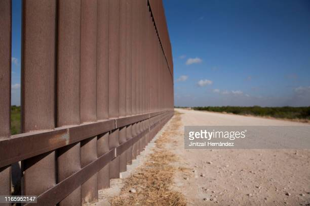 A section of the border wall stretches through the Rio Grande Valley sector of the Texas border on Aug 20 2019