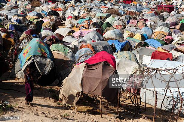 Section of the camp for IDP's near the bombed out National Assembly building in Mogadishu, 14 September 2011.