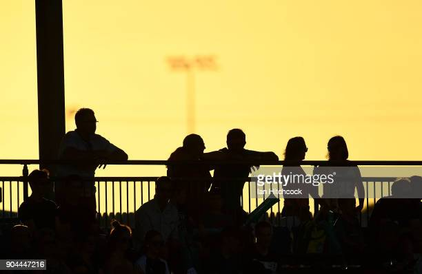 A section of the crowd is seen during the Women's Big Bash League match between the Brisbane Heat and the Melbourne Stars on January 13 2018 in...