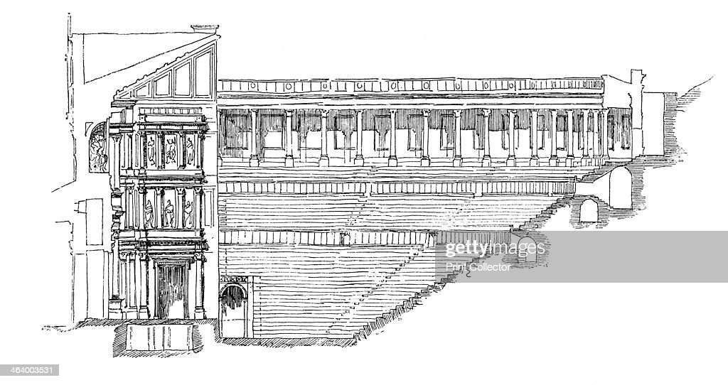 Section of the gallo roman theatre at orange provence france 1895 section of the gallo roman theatre at orange provence france 1895 built publicscrutiny Image collections