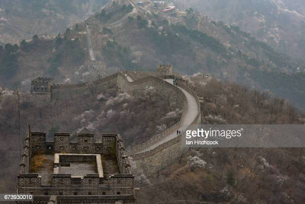 A section of the Grat Wall of China is seen on April 5 2017 in Mutianyu China