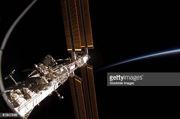 a section of the international space station. - space station stock photos and pictures