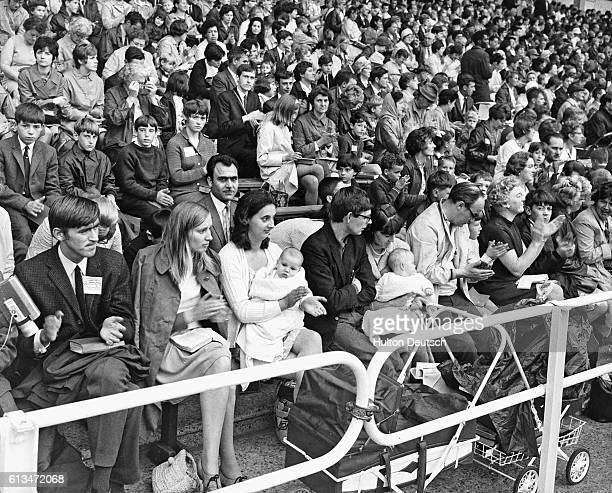 A section of the large crowd of Jehovah's Witnesses who gathered at Wembley Stadium for the opening of the 1969 International Watch Tower Convention