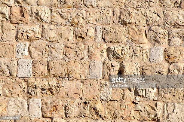 Ottoman-era stone wall surrounding the Old City of Jerusalem
