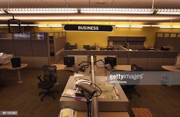 A section of the Rocky Mountain News newsroom sits empty on February 27 2009 in Denver Colorado Friday's edition was the last for the nearly...