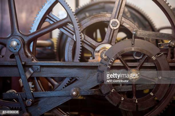 A section of the threetrain clock which drives the hands of Great Clock is pictured in the mechanism room ahead of the planned renovation work on the...
