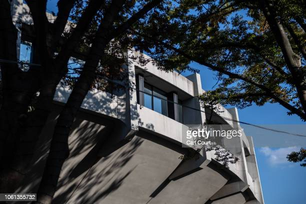 Section of Yoyogi National Stadium is pictured on November 14, 2018 in Tokyo, Japan. The 13,291 seat stadium is set to host handball during the Tokyo...
