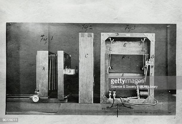 Section through the camera and the back of the electro shutter used by Muybridge in his experiments Eadweard Muybridge was the first photographer to...