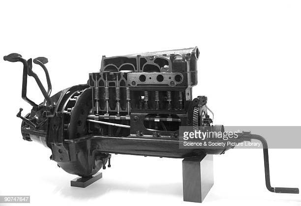 Sectioned view Henry Ford introduced the Ford Model T motor car in 1908 Made in Detroit Michigan United States using mass production techniques it...