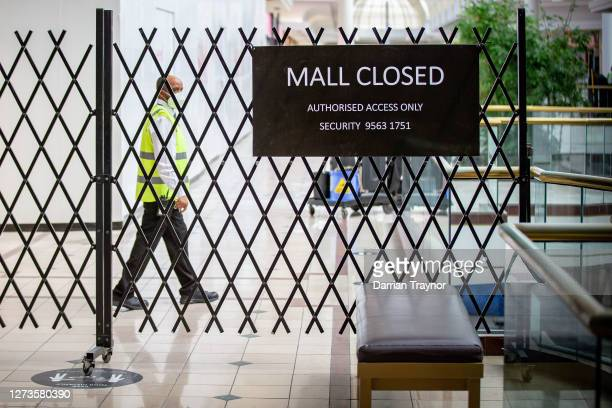 Sections of Chadstone Shopping Centre are closed on September 20, 2020 in Melbourne, Australia. Anti-lockdown protesters have been using encrypted...