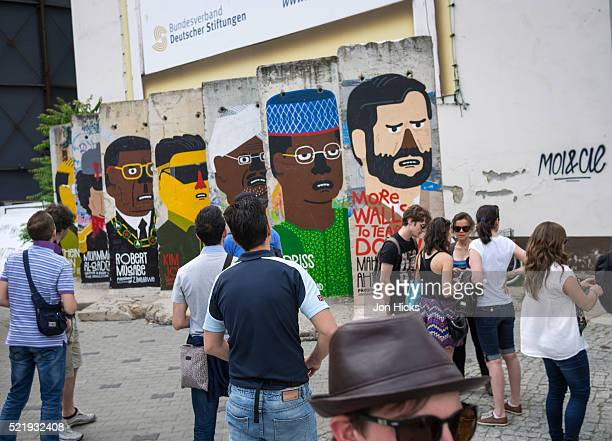Sections of the Berlin Wall at Checkpoint Charlie.